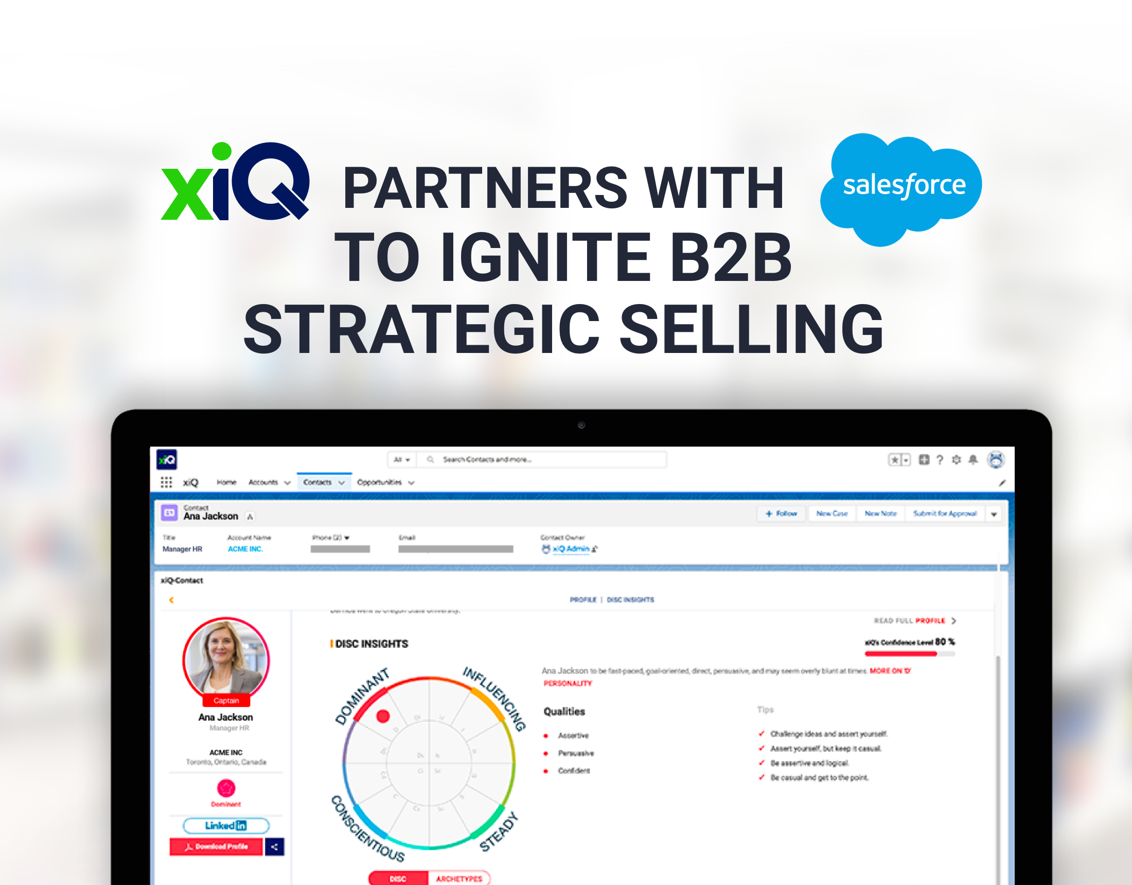xiQ partners with Salesforce to Ignite B2B Strategic Selling