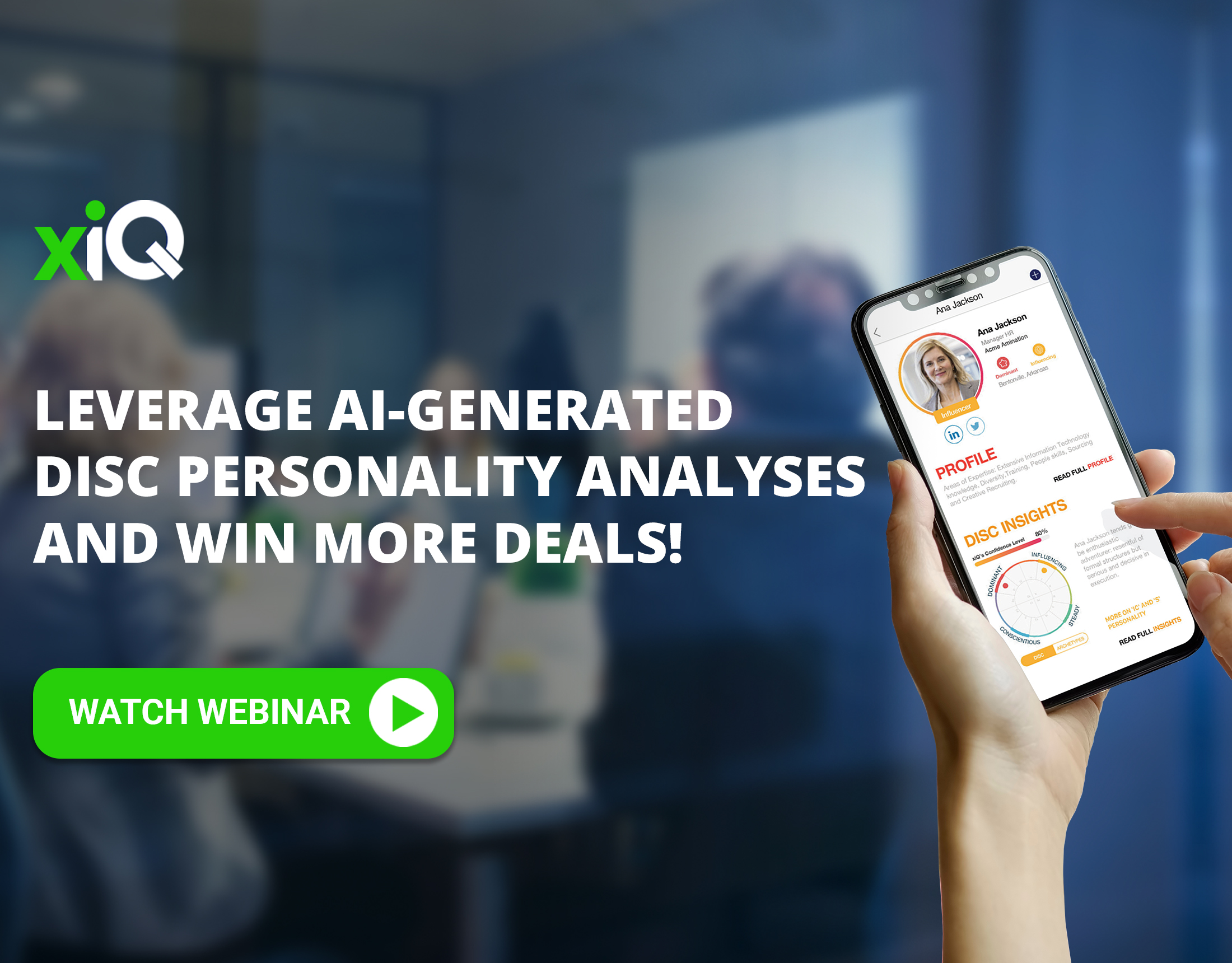 Leverage AI-generated DISC Personality Analyses and Win More Deals!