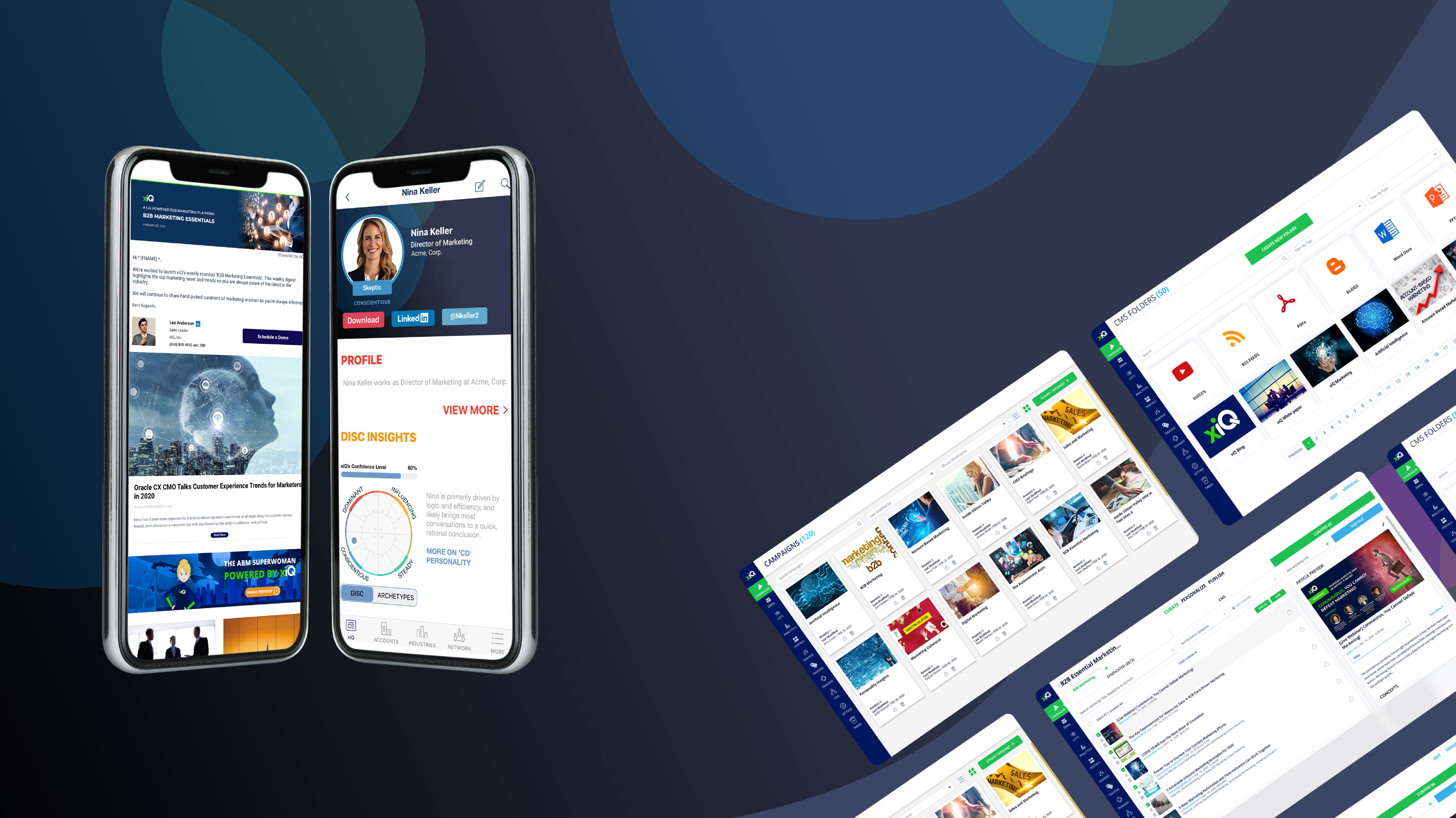 Web and mobile view xiQ