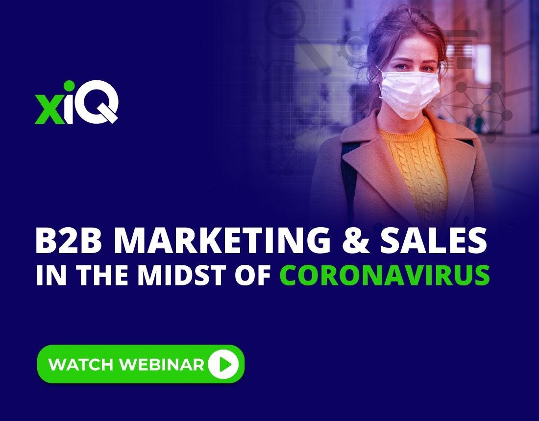 B2B Marketing & Sales in the midst of Coronavirus